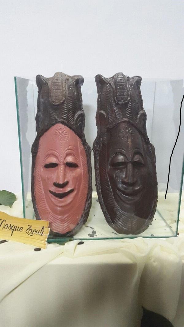 masque Zaouli en chocolat