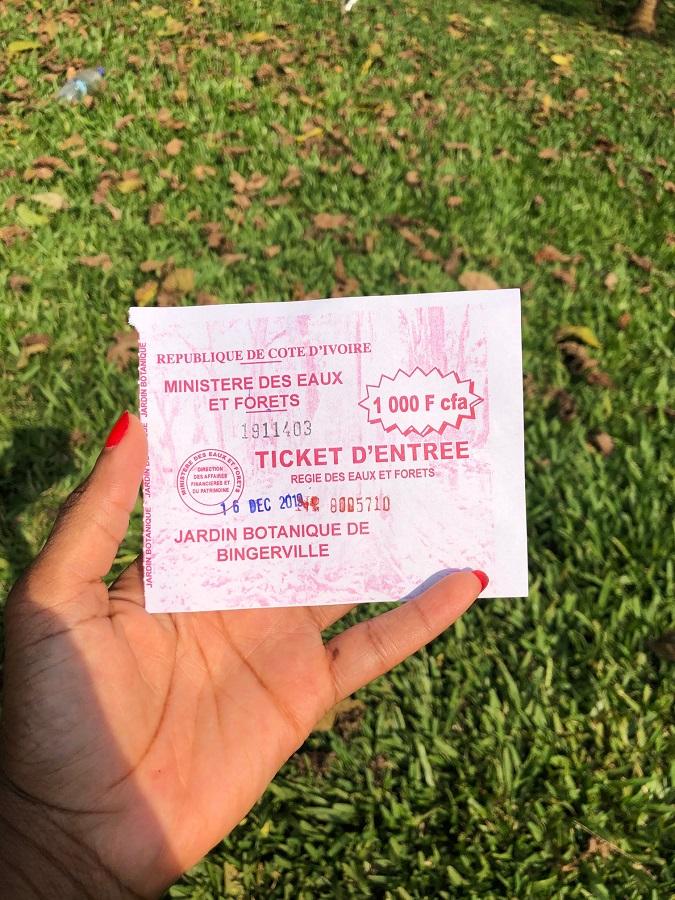Jardin botanique Bingerville - Ticket